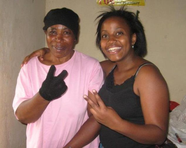Gloria with her 'gangster' mommy