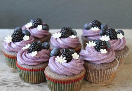 bluebery cup cake