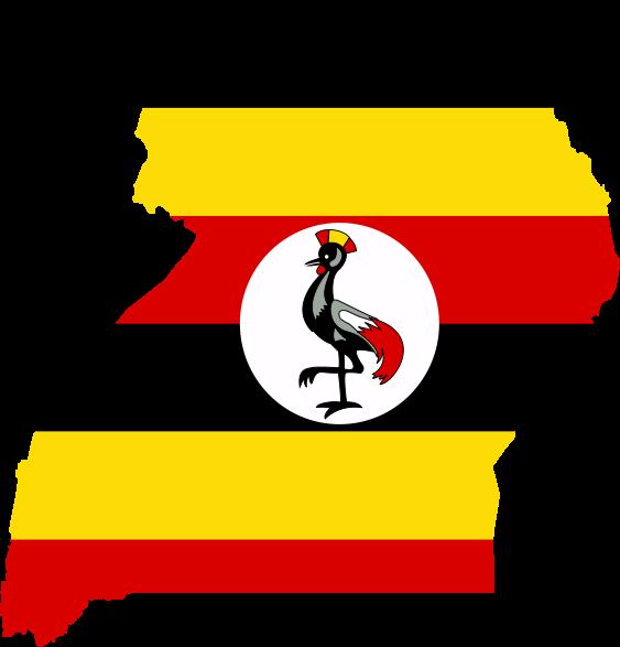 Uganda-Flag-Map1