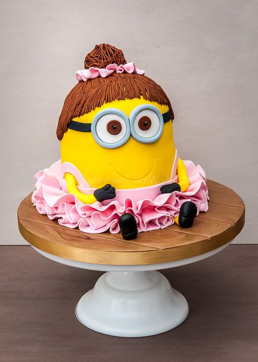 Ballerina Minion character cake